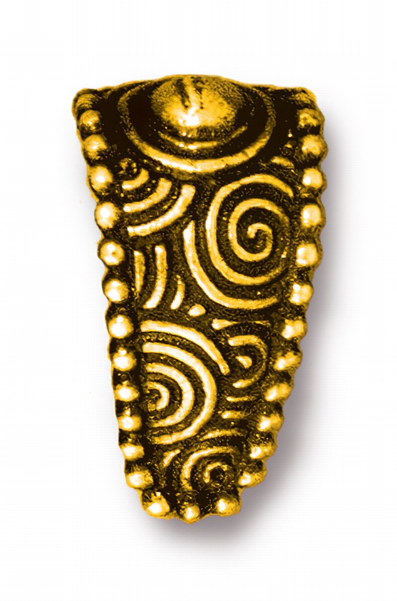 s62620 Findings - Pinch Bail - Large Spiral - Antique Gold