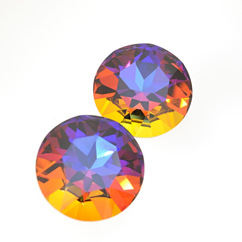 s62636 Swarovski Fancy Rhinestones - 27mm Faceted Round (1201) - Crystal Volcano