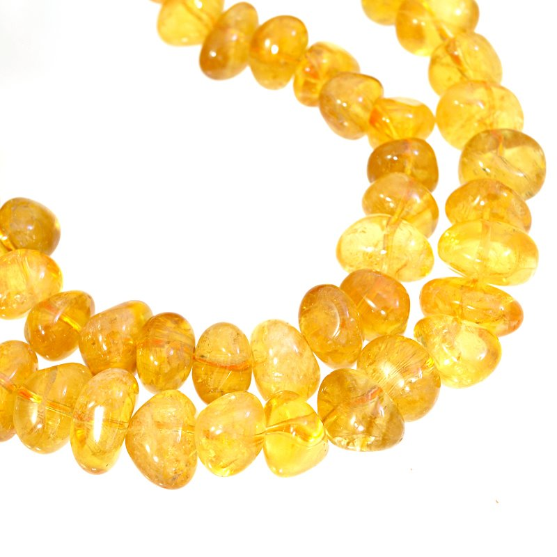 s62652 Stone Beads - 7.5-10mm Nuggets - Citrine (strand)