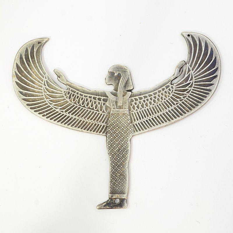 s62669 Metal Pendant -  Egyptian Goddess - Antiqued Silver