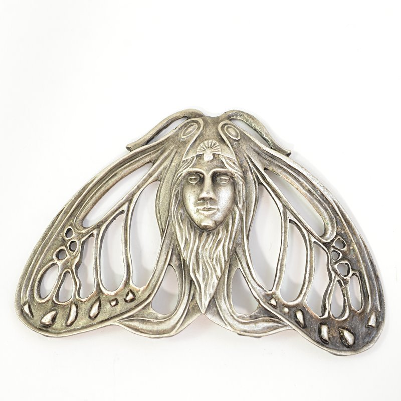 s62672 Metal Pendant -  Moth Spirit - Antiqued Silver