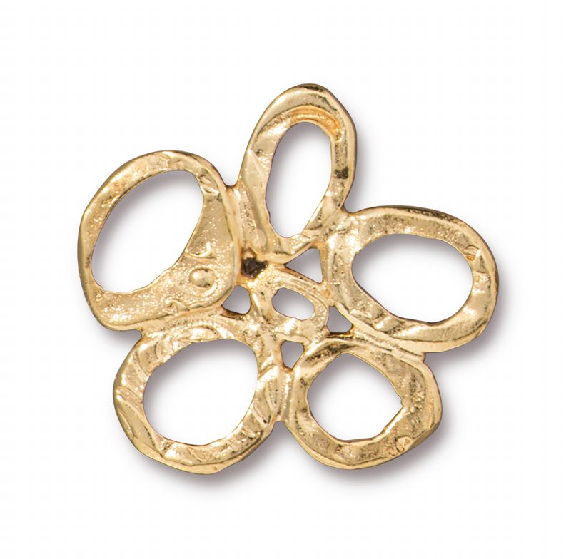 s62698 Finding - Link -  Intermix 5 Ring Link - Bright Gold