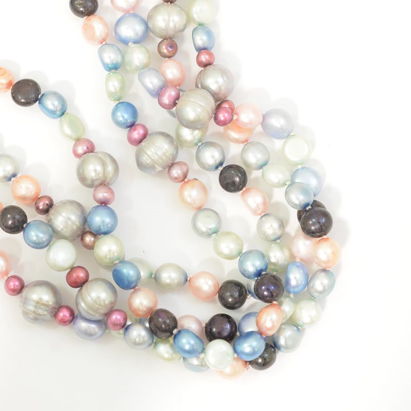 s62737 Freshwater Pearls - 4-9mm Random Shapes - Flower Mix (strand)
