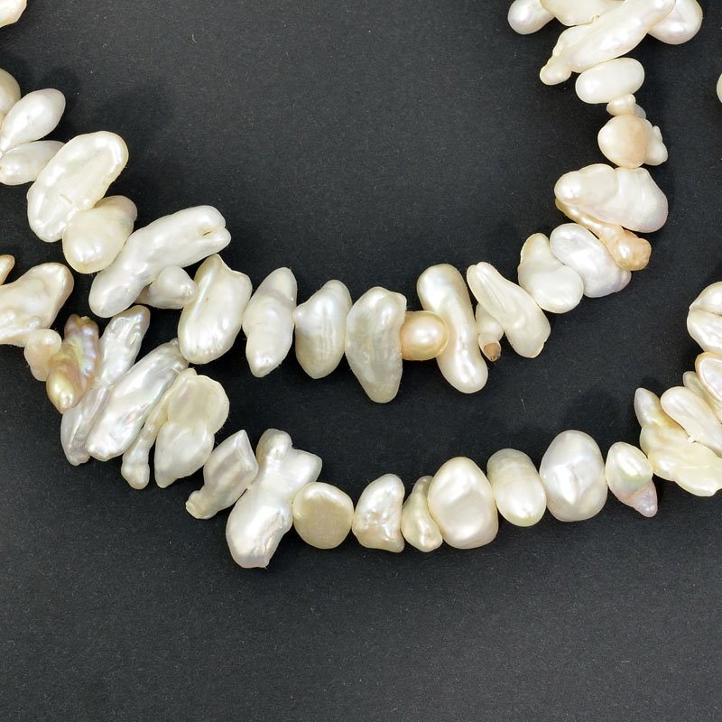 s62754 Freshwater Pearls - 7-14mm Stick Pearl - Irregular Shape - Cream (strand)