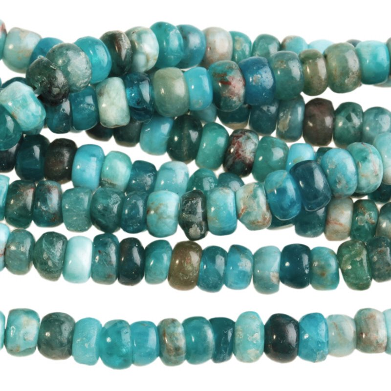 s62766 Stone Beads - 4mm Rondelle - Blue Apatite (strand)