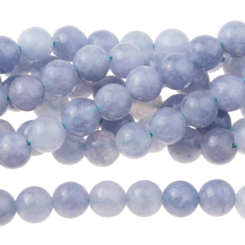 s62767 Stone Beads - 6mm Round - Tanzanite Quartz (Dyed) (strand)
