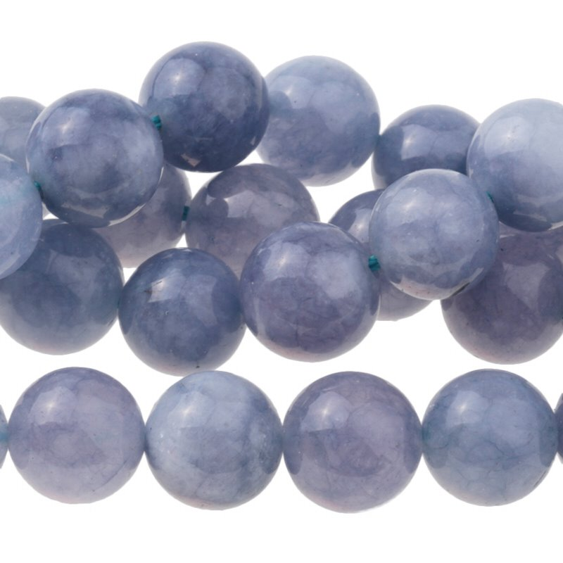 s62768 Stone Beads - 10mm Round - Tanzanite Quartz (Dyed) (strand)