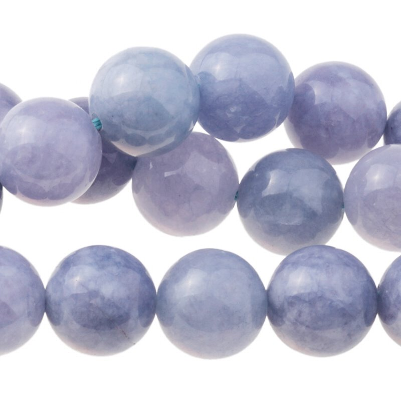 s62769 Stone Beads - 12mm Round - Tanzanite Quartz (Dyed) (strand)