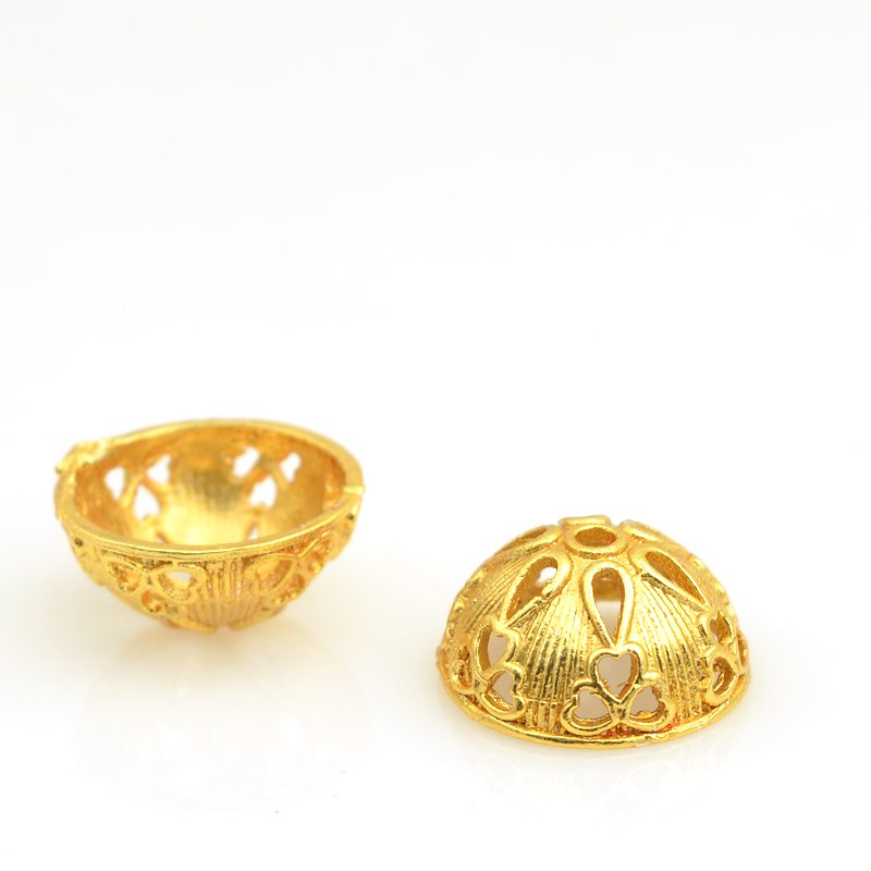 s62891 Finding - Cone - 16mm Lacey Bowl - Bright Gold Plated
