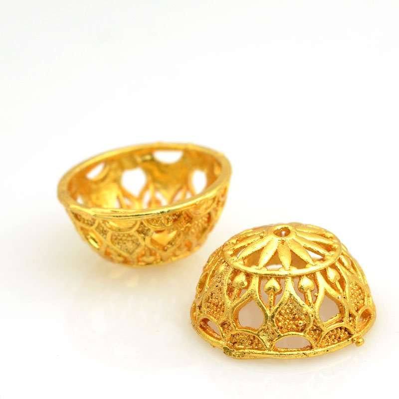 s62892 Finding - Cone - 19mm Taj Mahal - Bright Gold Plated