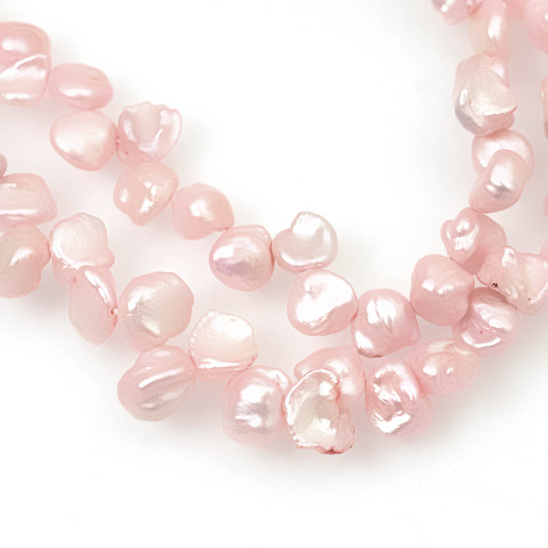 s63046 Freshwater Pearls - 9x7mm Keishi Pearl - Pink (strand)