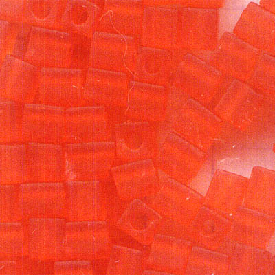 sb4-138f Miyuki - 4 mm Japanese Cubes - Transparent Frost Orange (10 grams)