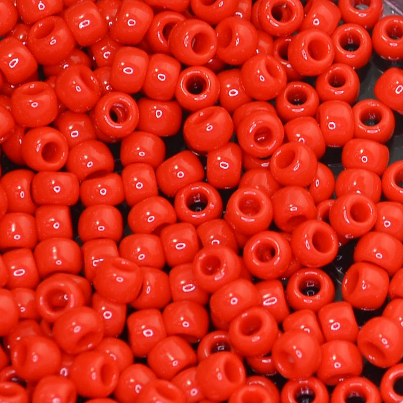 tb6r0045a Japanese Seedbeads - 6/0 Toho Seedbeads - Cherry Red