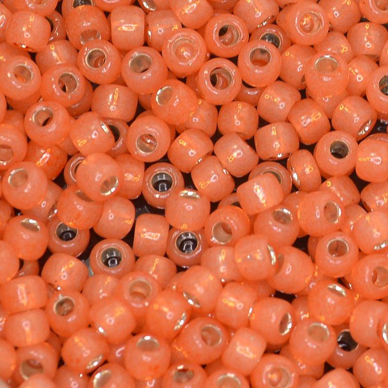 tb6r2112 Japanese Seedbeads - 6/0 Toho Seedbeads - Silver Lined Milky Mango