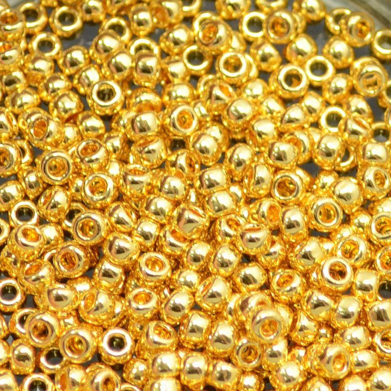 tb8r712b100 Japanese Seedbeads - 8/0 Toho Seedbeads - 24k Gold Plated (100 grams) (Bulk pack)