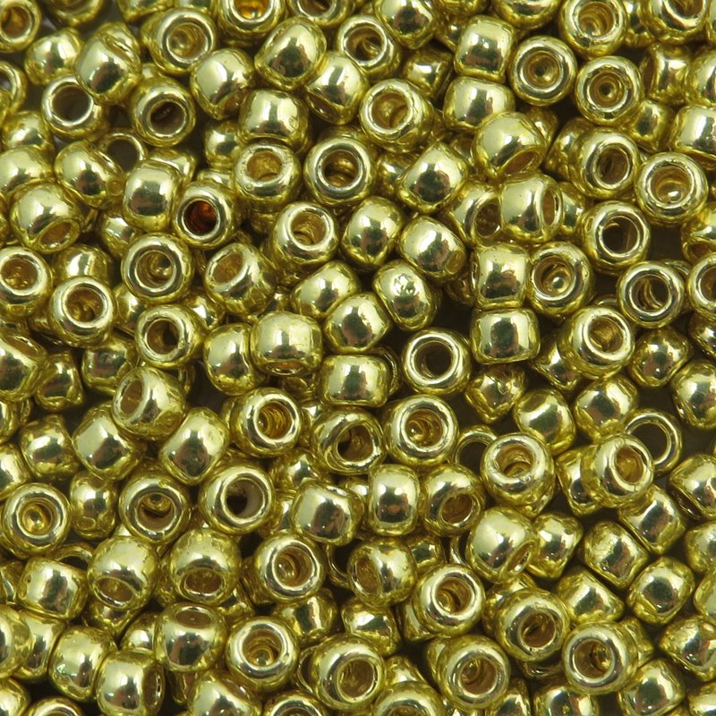 tb8rpf590 Japanese Seedbeads - 8/0 Toho Seedbeads - Galvanized Lemon Gold [Permanent Finish]
