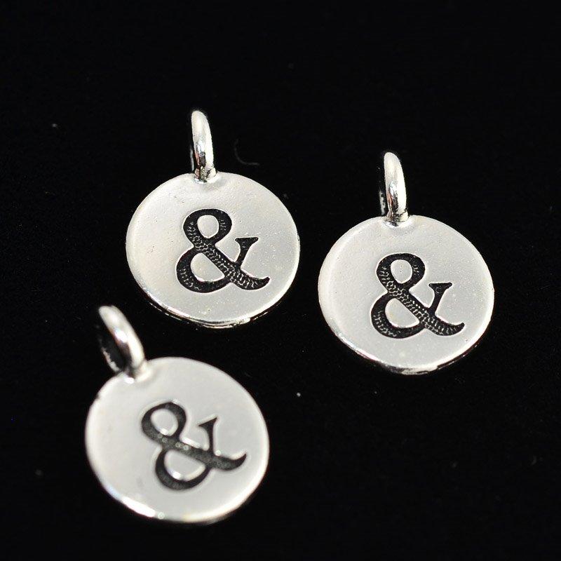 tc94-2423-12 Metal Charm -  Letter Charm - Ampersand (1)