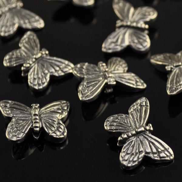 tc94-5520-13 Metal Beads -  Monarch Butterfly - Metal Noir (1)