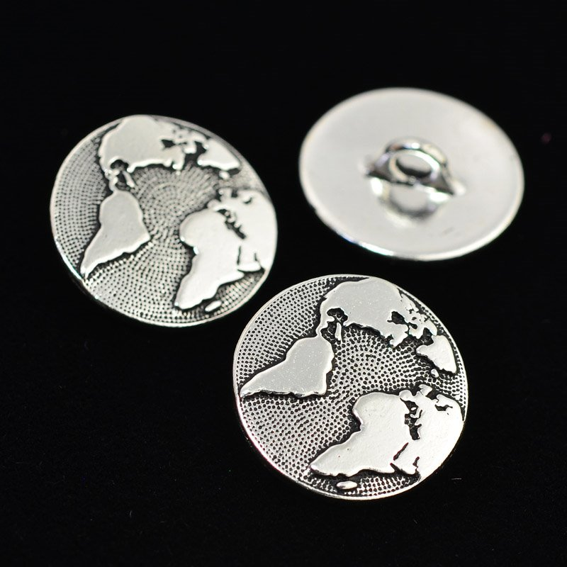 tc94-6578-12 Metal Buttons -  Earth - Antiqued Silver (1)