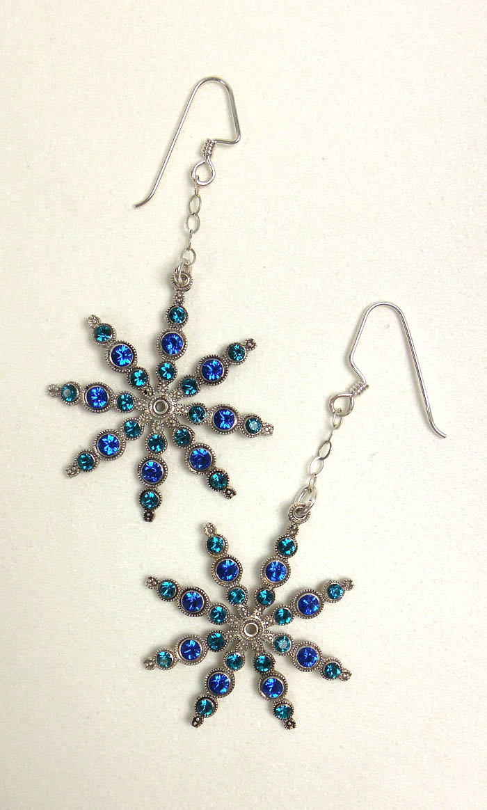 Swa Snowflake Earrings