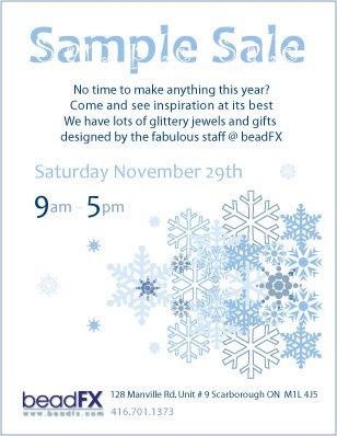 Sample Sale On Saturday