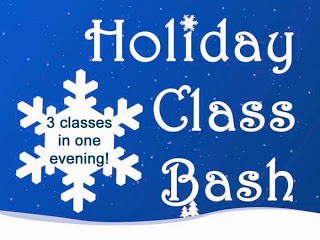 Celebrate the Season with three Holiday-Inspired Classes at our Holiday Class Bash!