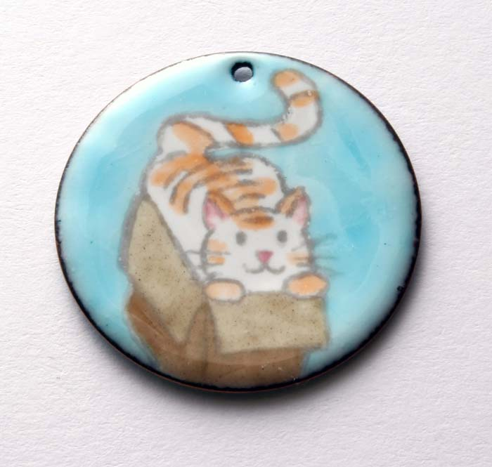Graphite and Enamel Charms