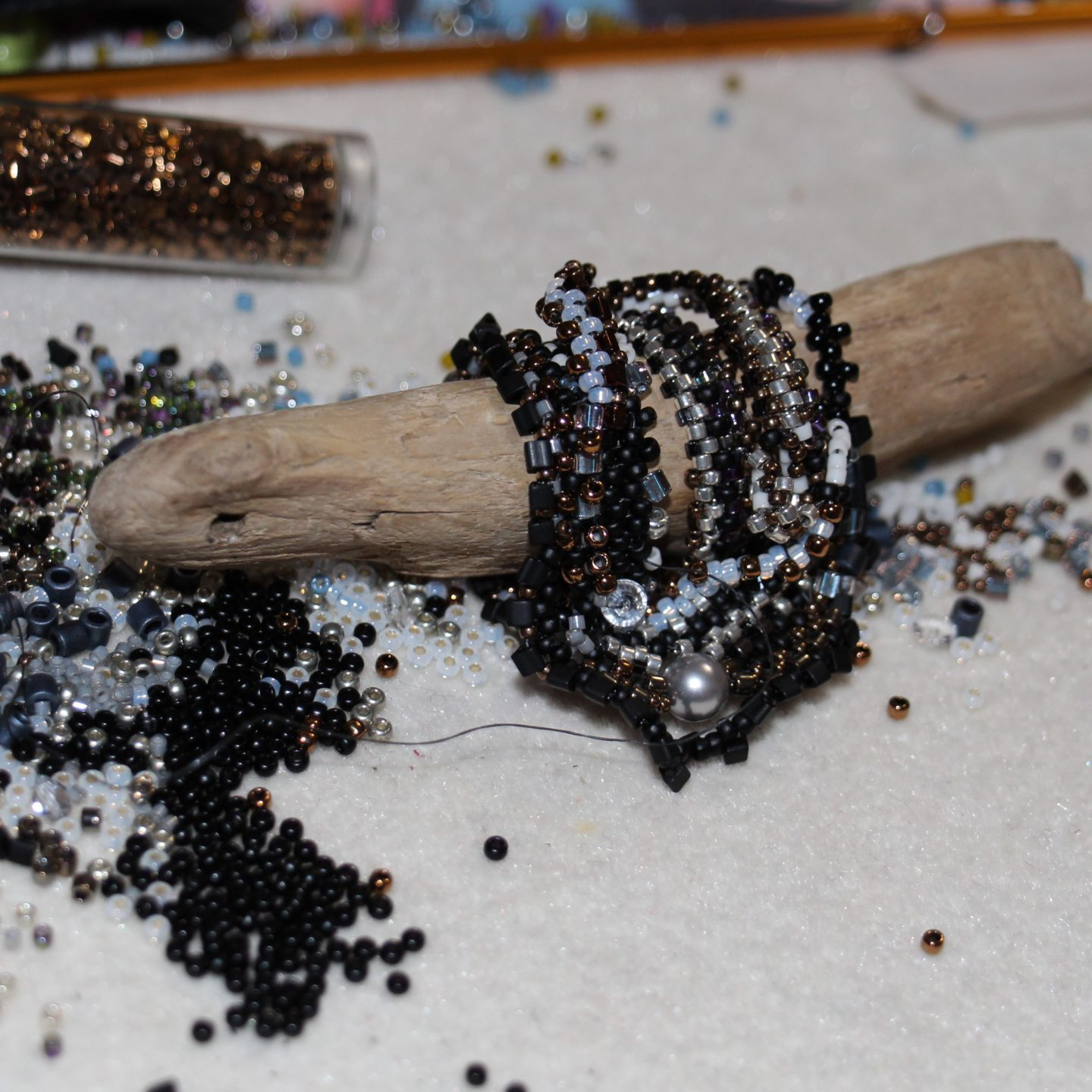 What's on my bead mat – March, 2017?