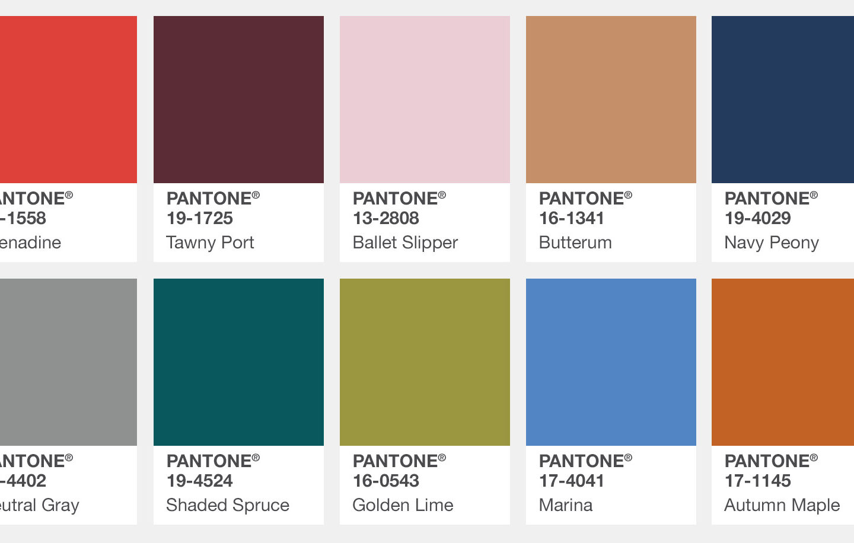 Tag Pantone Fall 2017 Colour Trends