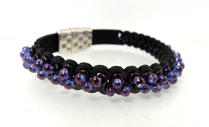 InspirationFX: Bubble Leather Bracelet