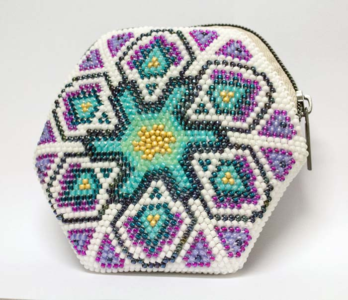 Bead Crochet Peacock Mandala Coin Purse In Two Styles 3 Days Over