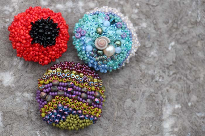 Capture your style: Bead Embroidered Buttons