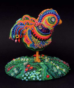 sculptural beadwork