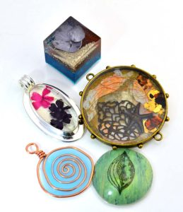 mixed media jewelery