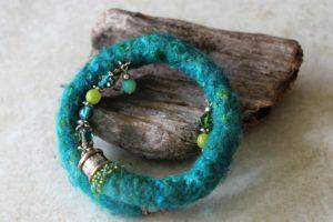 beads and felt