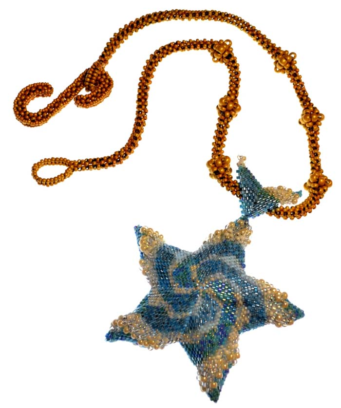 Crashing Waves Necklace with visiting instructor Jean Power