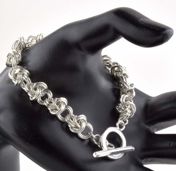 Double Spiral, Half Byzantine Bracelet