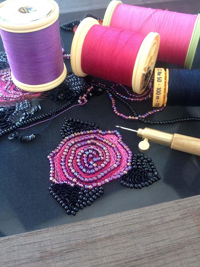 Introduction to Crochet de Luneville/Tambour Embroidery, Class 2: Mini Rose Motif