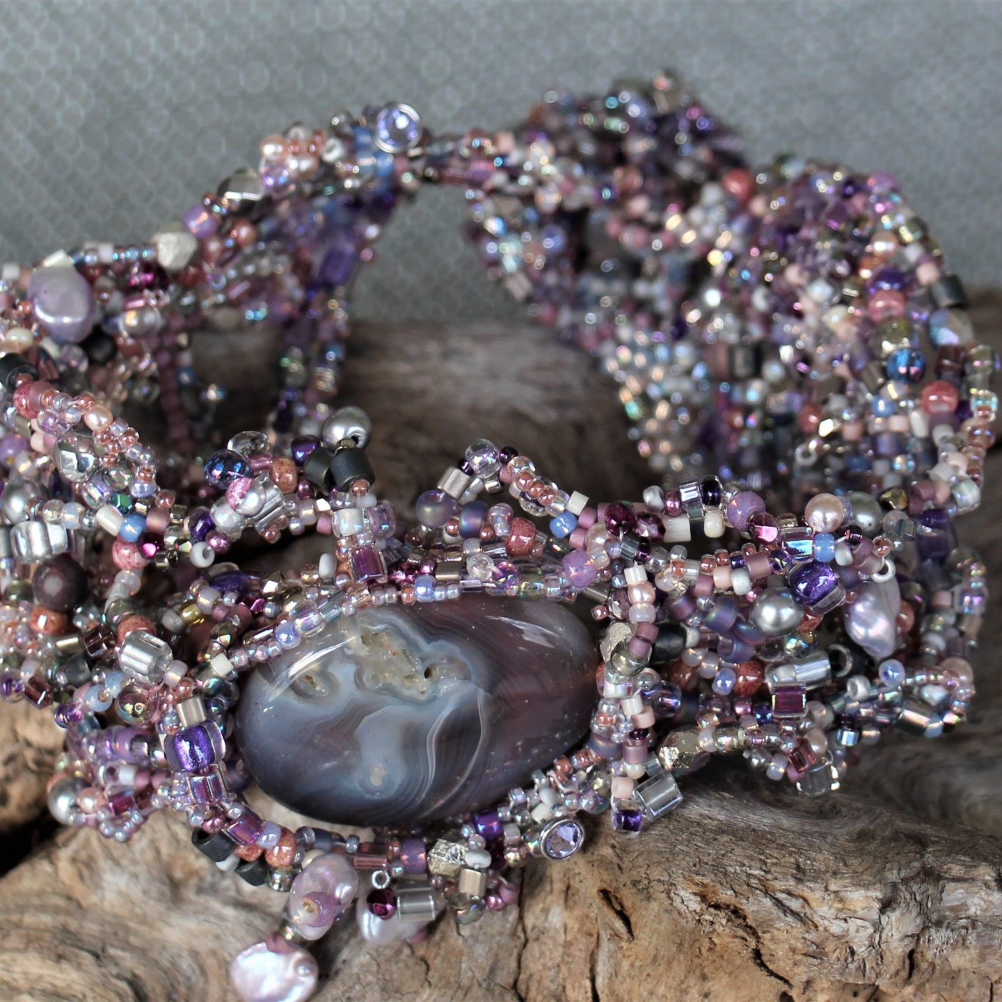 Freeform Peyote Bracelet: Design-on-the-fly!