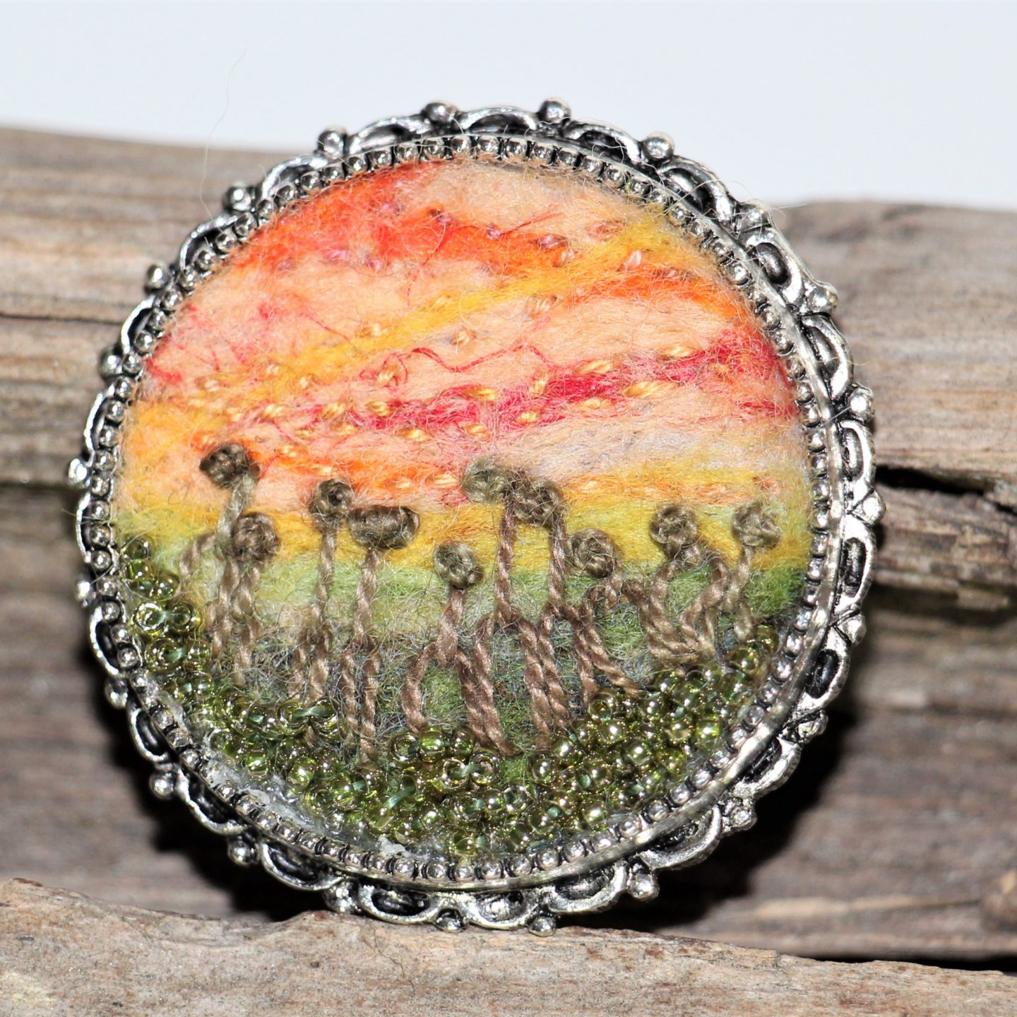 Needle Felted Landscapes: Pendants and Brooches