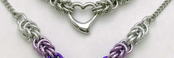Half Byzantine necklace with Heart – rescheduled to May 28