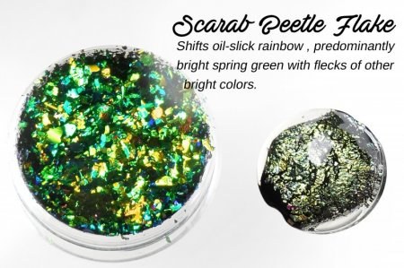 Creative Art Pigments - Lumiere Lusters Regular Flakes: - Scarab Beetle Flake (Jar)