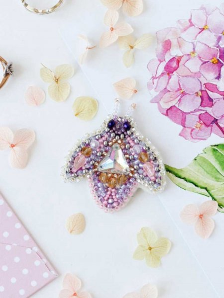 Bead Embroidery Kit - Brooch - Sparkle Rose (Kit)