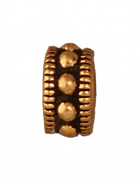 Metal Bead - 6mm Rococo Round - Antique Gold (6)