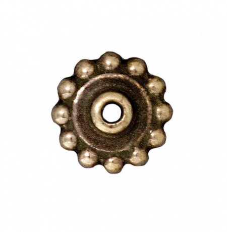 Findings - Bead Caps - 8mm Daisy Bead Aligner - Brass Oxide (10)