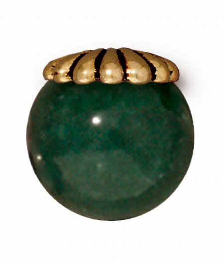 Bead Cap Joy Style Cap with Large Hole 10mm - Antique Gold