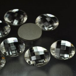 Swarovski Rhinestones - 20mm Chessboard Circle (2035) - Crystal
