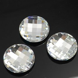 Swarovski Rhinestones - 40mm Reversed Chessboard Circle (2035) - Crystal Argent Light Silver