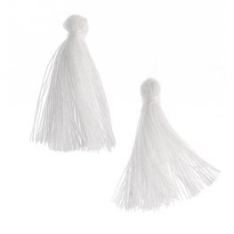 Components - 1in Cotton Tassels - White (Pack of 20)