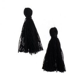Components - 1in Cotton Tassels - Black (Pack of 20)